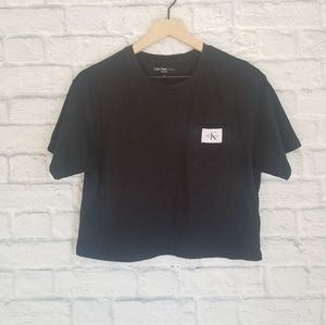 Calvin Klein| Black Crop Top w/logo